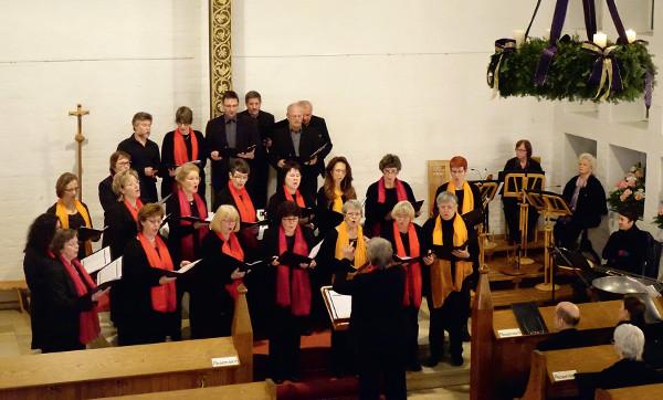 Kirchenchor bei der Adventsmusik
